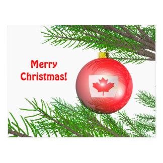 Décoration canadienne d'arbre de Noël Carte Postale