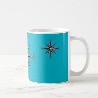 """decoration """"compass """" basic white mug"""