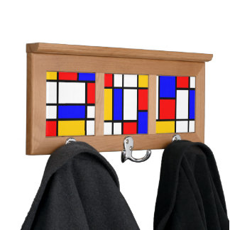Decoration of Mondrian style Coat Racks