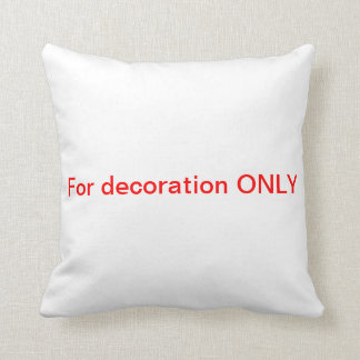 Decorational & clear throw pillow