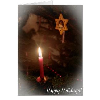 Décorations démodées de Noël Carte De Vœux