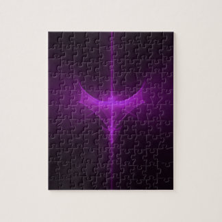 Decorative abstract background glowing jigsaw puzzle