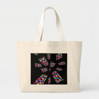 decorative abstract cubes jumbo tote bag