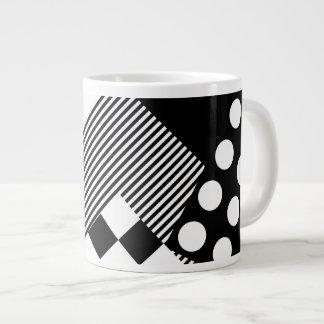 Decorative Abstract Patch Design Jumbo Mug