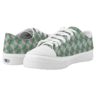 Decorative abstract square and triangle pattern Low-Top sneakers