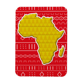 Decorative African Continent Magnet