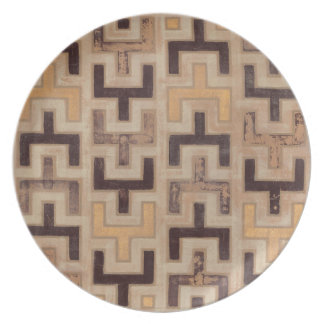 Decorative African Mudcloth Pattern Plate