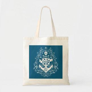 Decorative Anchor custom monogram tote bags