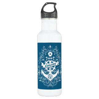 Decorative Anchor custom monogram water bottles