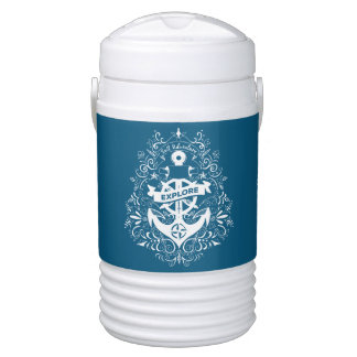 Decorative Anchor custom name beverage coolers Cooler