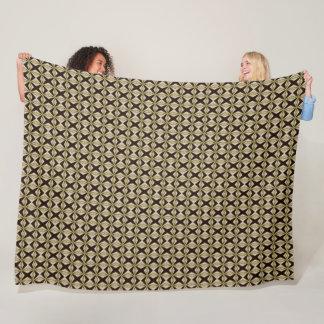 Decorative Arabian Gold Silk Pattern Fleece Blanket