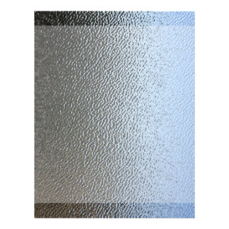 Decorative Architectural Textured Glass Look Customized Letterhead