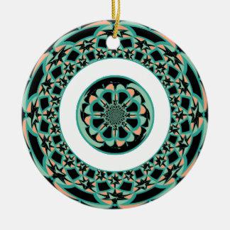 Decorative art round ceramic ornament