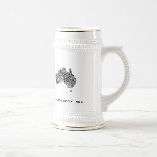 Decorative Australian Map Coffee Mugs