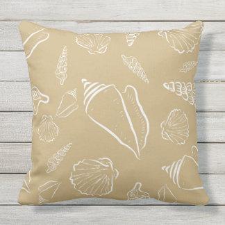 Decorative Beach Themed Seashells Throw Pillow