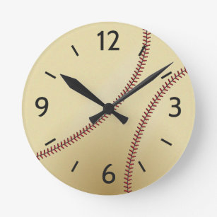 Decorative Bedroom Wall Clock for Baseball Fan