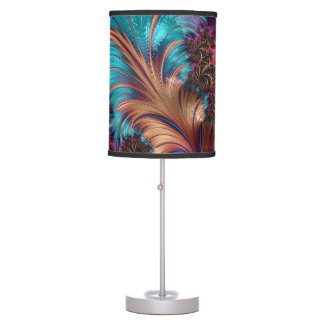Decorative Beige and Blue Multi-Color Lamp