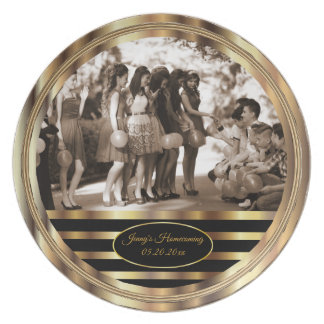 Decorative Black and Gold Keepsake Plate
