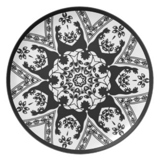 Decorative Black And White Plate