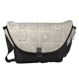 Decorative Block Pattern Commuter Bag