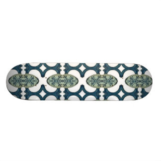 Decorative Blue And White Pattern Skateboards