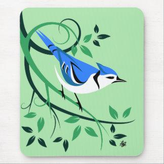 Decorative Blue Jay Mousepads