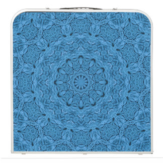 "Decorative Blue Kaleidoscope  48""  Pong Table"