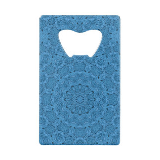 Decorative Blue Vintage  Credit Card Bottle Opener