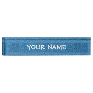 Decorative  Blue Vintage Desk Nameplate