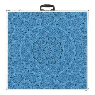 "Decorative Blue Vintage Kaleidoscope  96"" Table"