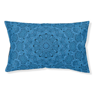 Decorative Blue Vintage Kaleidoscope Dog Bed