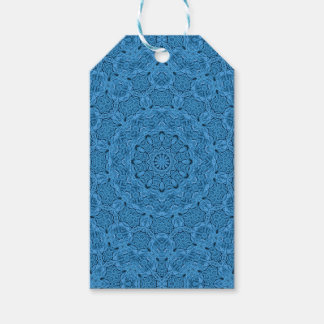 Decorative Blue Vintage Kaleidoscope  Gift Tags