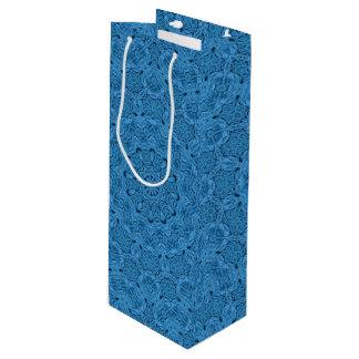 Decorative Blue Vintage Kaleidoscope  Wine Bags