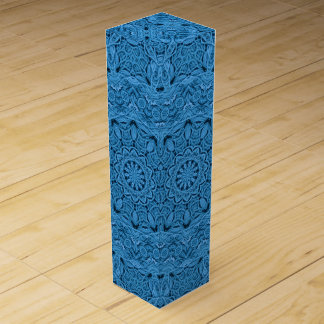 Decorative Blue Vintage Kaleidoscope Wine Gift Box