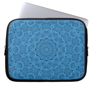Decorative Blue Vintage  Neoprene Laptop Sleeves