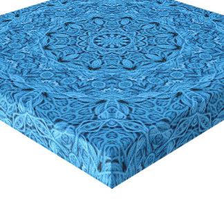 Decorative Blue  Vintage  Wrapped Canvas