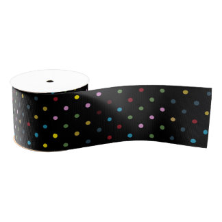 Decorative bow Dots Color Grosgrain Ribbon