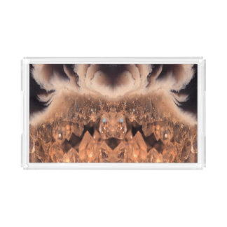 Decorative Brown Geode Crystal Pattern Perfume Tray