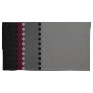 Decorative Burgundy Grey Black Dot Pattern Pillowcase