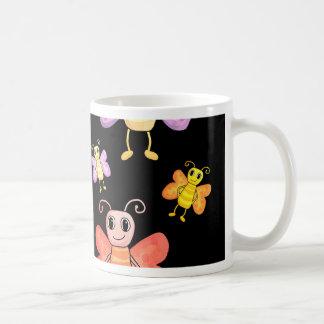 Decorative butterflies pattern coffee mug