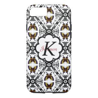 Decorative Butterfly Swirls Pattern personalizable iPhone 7 Case