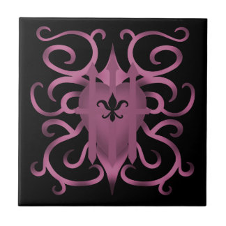 Decorative captured heart tile