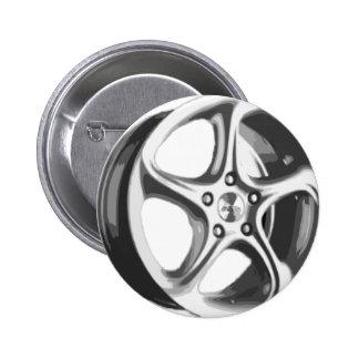 Decorative Car Rim 2 Inch Round Button