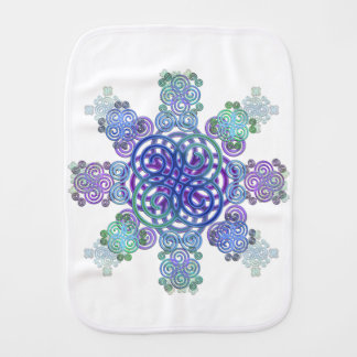 Decorative Celtic design. Baby Burp Cloth