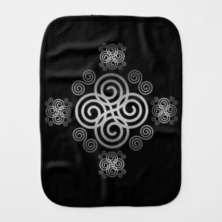 Decorative Celtic design. Burp Cloth