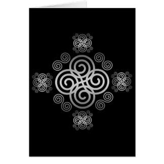 Decorative Celtic design. Card