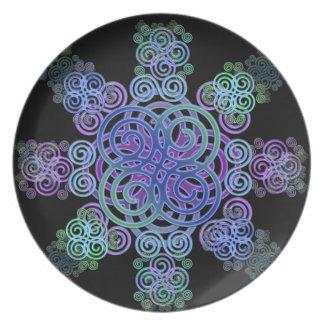 Decorative Celtic design. Party Plate