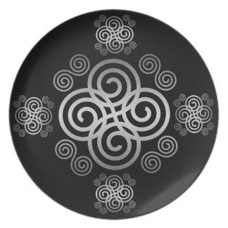 Decorative Celtic design. Plates