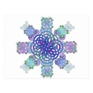 Decorative Celtic design. Postcard
