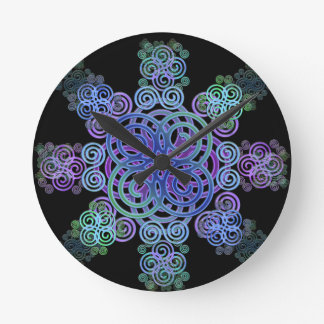 Decorative Celtic design. Round Clock